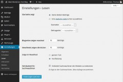 Blogsoftware Wordpress Grundeinstellungen