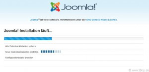 Joomla Installation läuft
