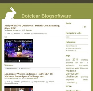 Theme Rabbit, einer der 10 Styles vom Dotclear Template Blowup