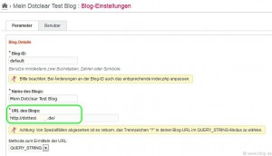 Dotclear Blog-Einstellungen | URL des Blogs ohne index.php?